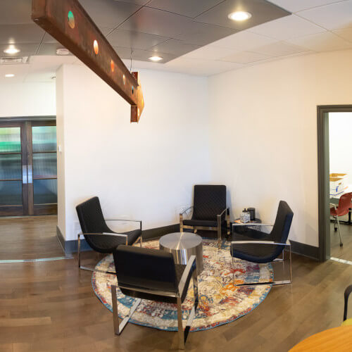 Reception Area at Shared Office